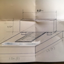 Фото проекта памятника. Размеры памятника - согласно проекта.