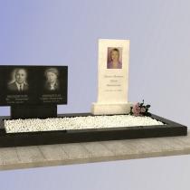 На фото 3д проект памятника. Доступная цена 3д проекта 500 грн. Производство памятников из гранита и мрамора в Киеве сегодня.