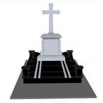 3д модель памятника на одного. Фото проекта памятника под заказ.