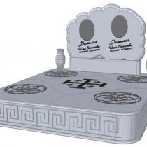 Фото проекта ритуального комплекса из мрамора. Цена проекта - договорная.