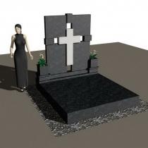Фото 3д проекта памятника. Цена 3д памятника - от объёма работы.