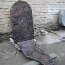 Памятник на заказ из гранита Аврора. Размер памятника из гранита Аврора: 112 х 60 х 8 см.
