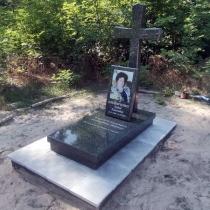 Индивидуальный памятник с крестом. Размеры памятника с крестом: 120 х 60 х 10 см.