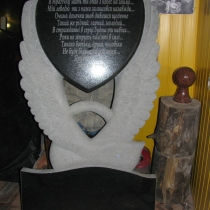 Эксклюзивный памятник из чёрного габбро, размеры 120 х 80 см., цена 25 тыс. грн.