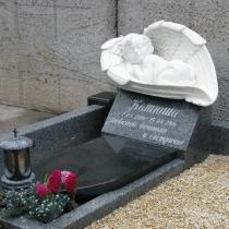 Изготовление памятника младенцу в Киеве. Размер памятника младенцу в крыльях: 80 х 45 х 45 см. Цена детского памятника, согласно разработанного проекта $1 тыс.