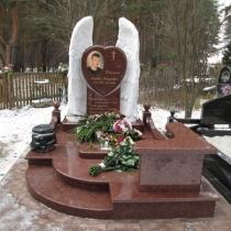 Галерея памятников. Памятник мальчику со скульптурой. Купить памятник на заказ - можно с сайта: https://www.grand-ritual.kiev.ua