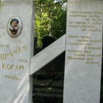 Памятник ребёнку из мрамора в форме литеры И. Фото памятника на могиле. Заказать детский памятник, по доступной цене $ 800 сегодня, можно в нашем офисе в Киеве. Качественные памятники детям, от профессионалов.