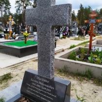 Памятник в форме креста. Стоимость креста из гранита - доступная.