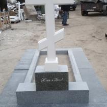 Купить крест из мрамора - можно в Магазине скульптуры в Киеве.