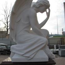Высота ангела - 85 см. Цена ангела - согласно проекта памятника.