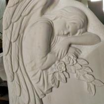 Высота памятника с ангелом - 120 см. Изготовление скульптуры ангелов дляпамятника.