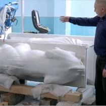 Фото скульптуры льва. Фигура льва из белого мрамора на станке ЧПУ в Киеве, изготовление. цена скульптуры из мрамора - доступна.