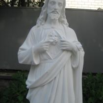 Статуя Иисуса Христа из белого бетона, высота 130 см, основа 35 х 34 см, вес 180 кг, цена статуи 29 тыс.грн. Всегда в наличии на складе.