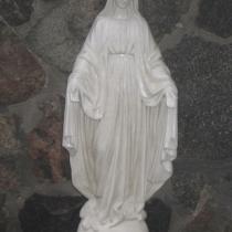 Фото скульптуры Богородицы из бетона. Высота статуи Богородицы 85 см., основа 23 х 23 см., вес 50 кг. Цена скульптуры Богородицы 11 тыс. грн.