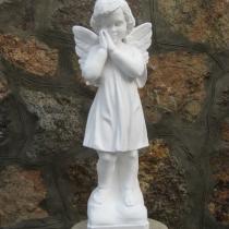 Ангел из декоративного бетона; высота скульптуры ангела 55 см, основа 14 х 14 см, вес 12 кг, цена ангела 5 тыс. грн. Фото молящегося ангела, на складе.