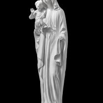На фото статуя Богородицы с младенцем из полимера. Высота статуи из полимера, 50 см. Цена Богородицы из полимера - доступная.