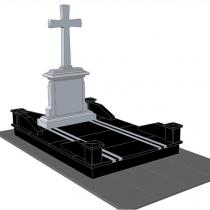 Фото проекта элитного памятника под заказ. Высота памятника, по дизайнерскому проекту.