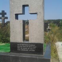 Памятник с воздушным крестом на Северном кладбище - результат авторского шедевра, мастеров Гранд - Ритуал в г. Киеве.