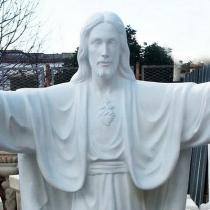 Новая статуя Иисуса Христа для памятника, изготовление в Киеве. Высота скульптуры Иисуса - 200 см.
