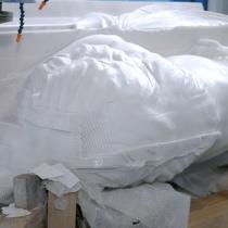 Фото фигуры льва. Размеры фигуры льва, 2 м. Изготовление мраморной скульптуры большого размера в Киеве станком ЧПУ.