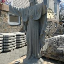 Технология изготовления статуи - включает изготовление каркаса скульптуры Иисуса, её армирование и формовку.