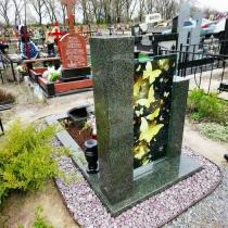 Высота памятника на заказ - 100 см. Обратная сторона памятника на заказ. Цена нового памятника в Киеве - доступна.