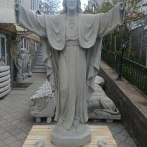 Создание статуй Святых : скульптура Иисуса Христа, Богородицы, ангелов для памятников и голубей - как символ души человека.
