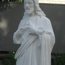 Статуя Иисуса Христа из бетона. Фото статуи, после покраски на складе в Киеве. Размеры статуи: высота 130 см., основа 35 х 34 см., вес 180 кг. Цена статуи в Киеве 29 тыс. грн.