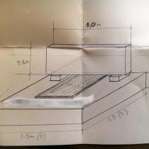 На фото проект памятника. Размеры памятника - по проекту заказчика.